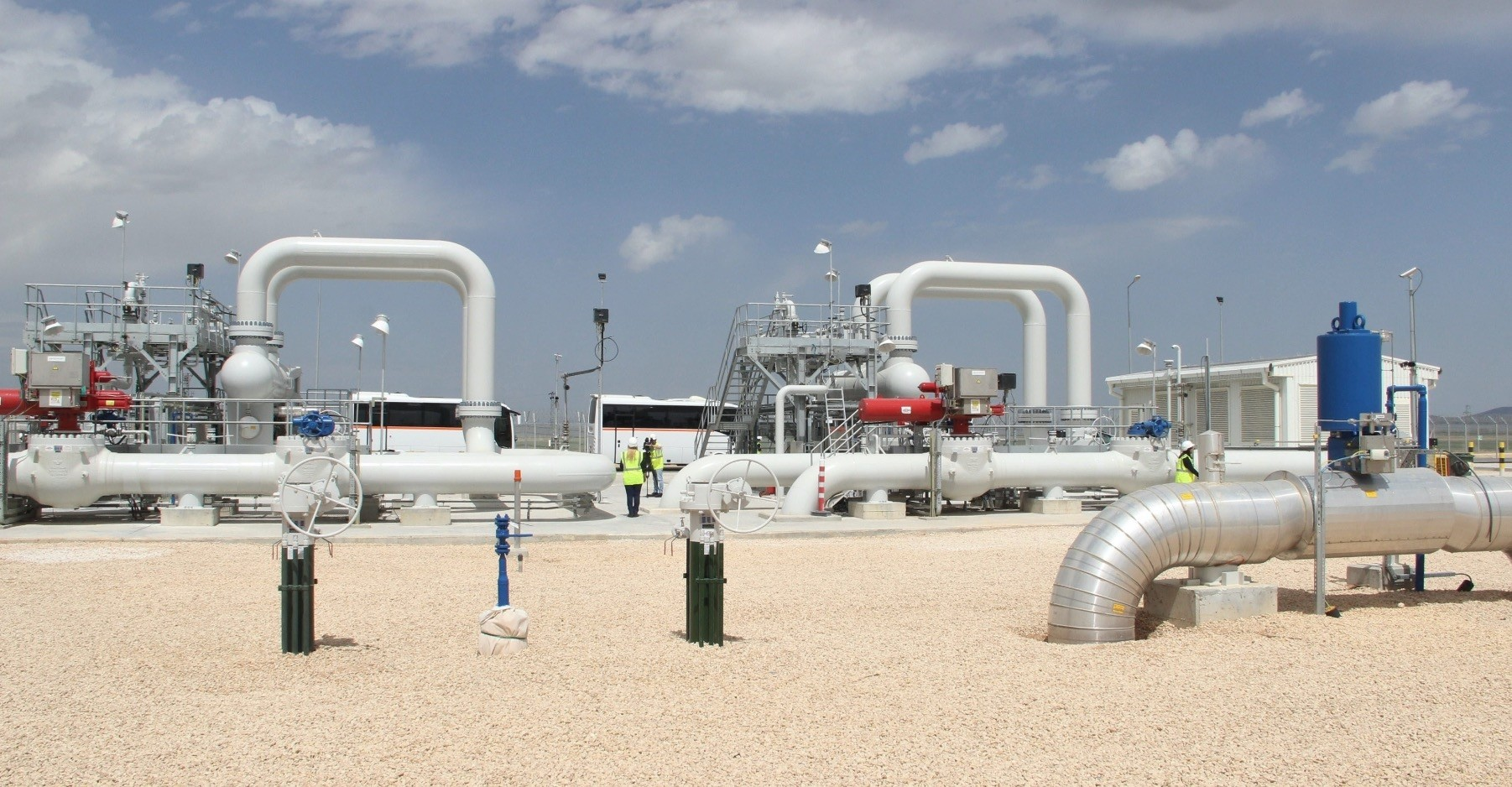 Gas pipes and valves in Turkeyu2019s central Anatolian city of Eskiu015fehir through which Trans-Anatolian Natural Gas Pipeline (TANAP) passes.