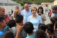 Romania's Princess Marie visits Syrians in southeast Turkey