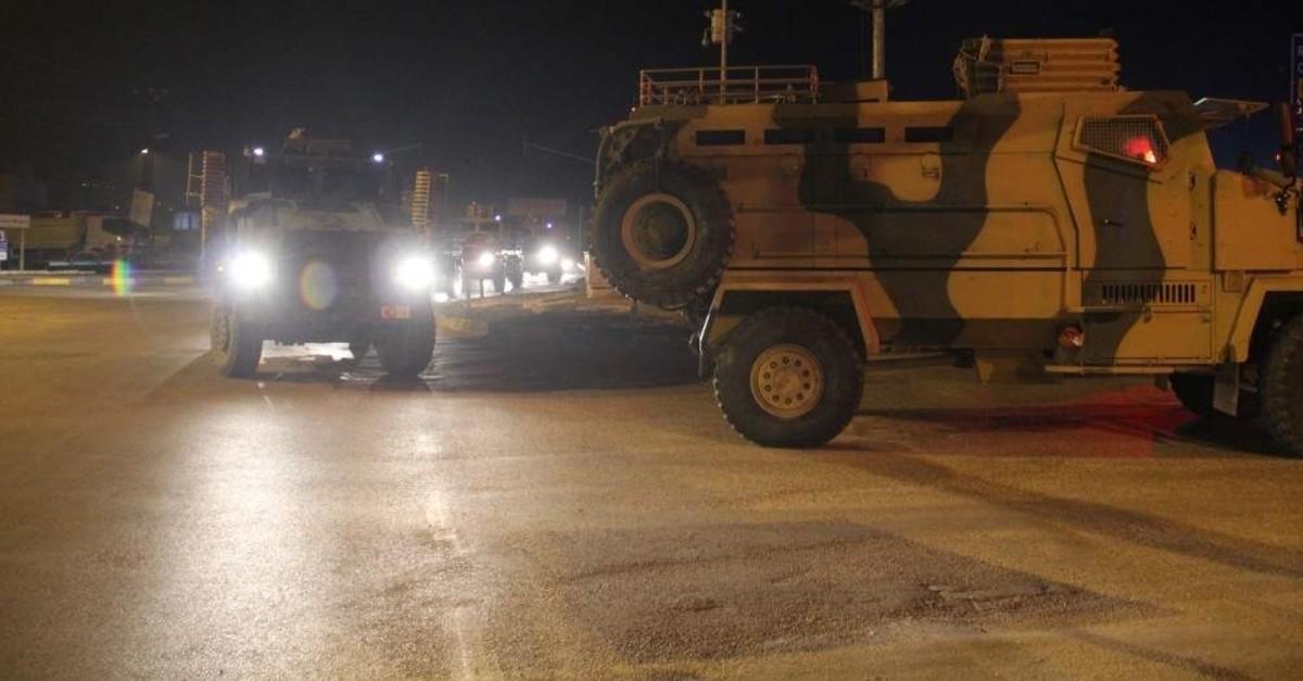 Turkish military convoys deployed to Idlib, Feb.2, 2020. (AA PHOTO)
