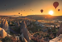 Famous for its fairy chimneys, Cappadocia, an important tourist hub in Turkey, welcomed more than 1 million local and international tourists last year, who came to watch the sunset in Kızılçukur...