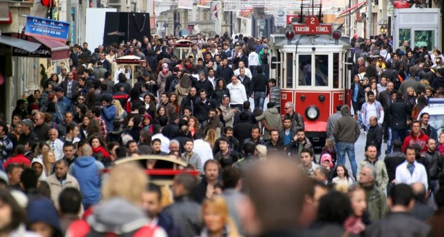 This file photo shows the bust Istiklal Street in Beyoğlu district of Istanbul.
