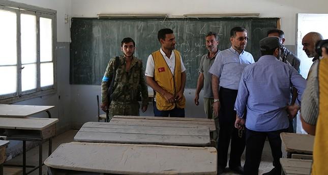 جمعيات تركية تعمل على تأهيل مدارس جرابلس لفتحها للتعليم مجدداً