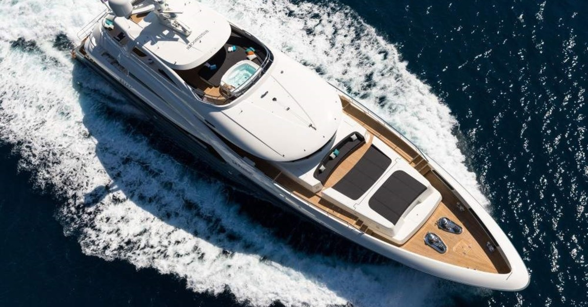 La Passion, an award-winning super luxury yacht produced in the Antalya Free Zone, is seen in this file photo. (DHA Photo)