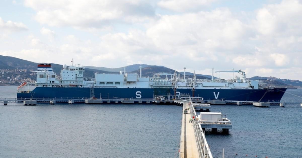 Turkeyu2019s first ever floating storage regasification facility (FSRU) GDF Suez Neptuneu2019s floating terminal is seen in Turkeyu2019s western province of Iu0307zmir, Dec. 15, 2016.
