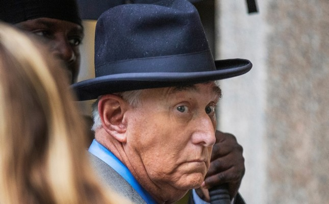 In this Nov. 12, 2019 file photo, Roger Stone, a longtime Republican provocateur and former confidant of President Donald Trump, waits in line at the federal court in Washington AP Photo