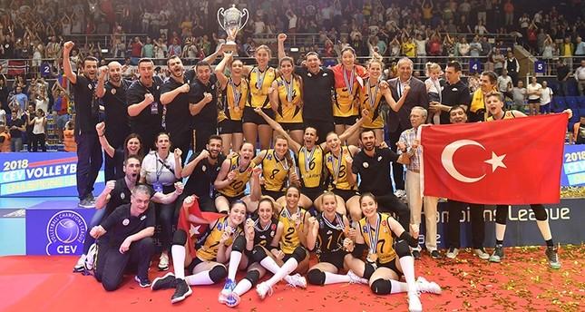 وقف بنك التركي يحرز لقب أبطال أوروبا للكرة الطائرة سيدات