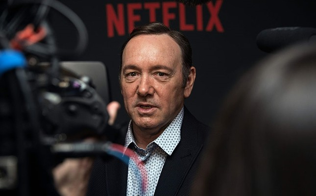 This file photo taken on Feb. 23, 2016 shows actor Kevin Spacey arriving for  the season 4 premiere screening of the Netflix show House of Cards in Washington, DC. (AFP Photo)