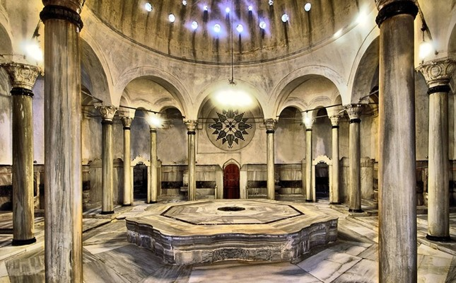 The Bath of Cağaloğlu is one of the biggest twin baths in Istanbul.