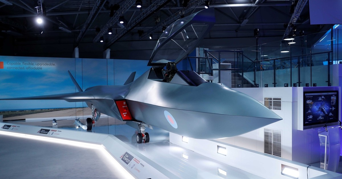 Britain unveils Tempest new jet fighter at the Farnborough Airshow, in Farnborough, Britain July 16, 2018. (Reuters Photo)
