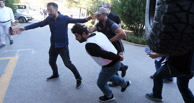 Yusuf Nazik transferred to court by Ankara Security Directorate on Monday, Sept. 24, 2018. AA Photo