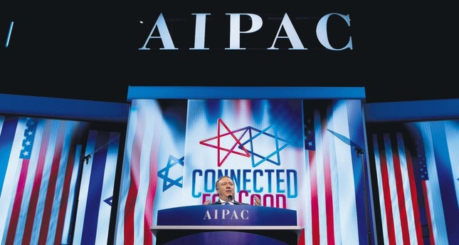 U.S. Secretary of State Mike Pompeo speaks at the 2019 American Israeli Public Affairs Committee (AIPAC) policy conference, at the Washington Convention Center, Washington D.C., March 25, 2019.