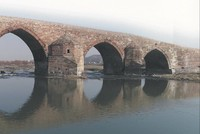 Historical Çobandede Bridge in eastern Turkey defies time