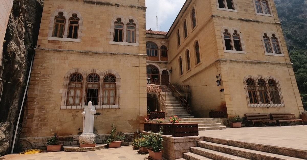 A view of the Monastery of Saint Anthony of Qozhaya in the heart of the Qadisha valley, in Zgharta district, Lebanon.