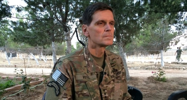 Top US commander Votel makes secret trip to northern Syria