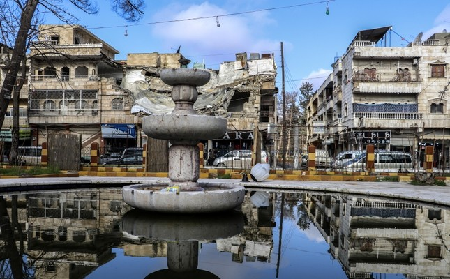 A general view of the town of Manbij, northern Syria, Dec. 31.