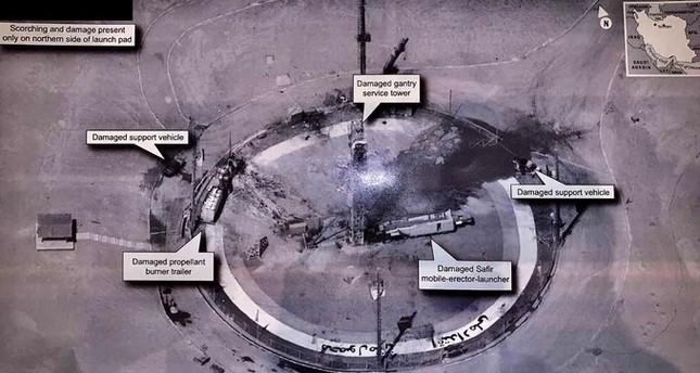 ترامب يكشف صورة عن فشل عملية إيرانية لإطلاق صاروخ يحمل قمرا صناعيا