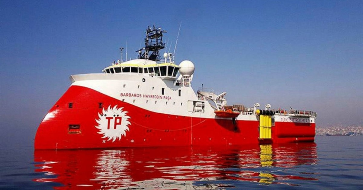 Turkish Petroleum's seismic vessel Barbaros Hayreddin Pau015fa. (File Photo)