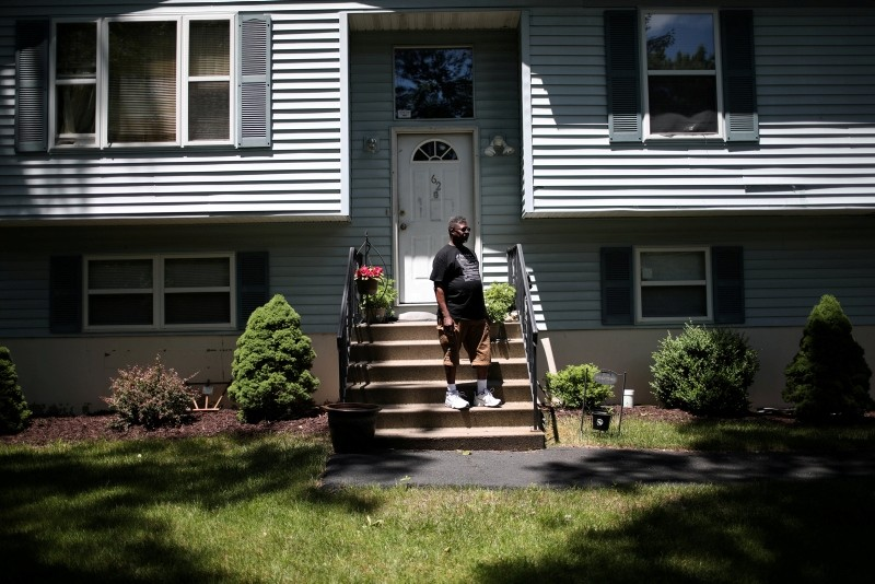 Michael Payne stands in front of his home in the Penn Estates development where most of the homeowners are underwater on their mortgages in East Stroudsburg, Pennsylvania, U.S., June 20, 2018. (Reuters Photo)