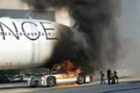 Plane bursts into flames at Frankfurt airport, injuring 10