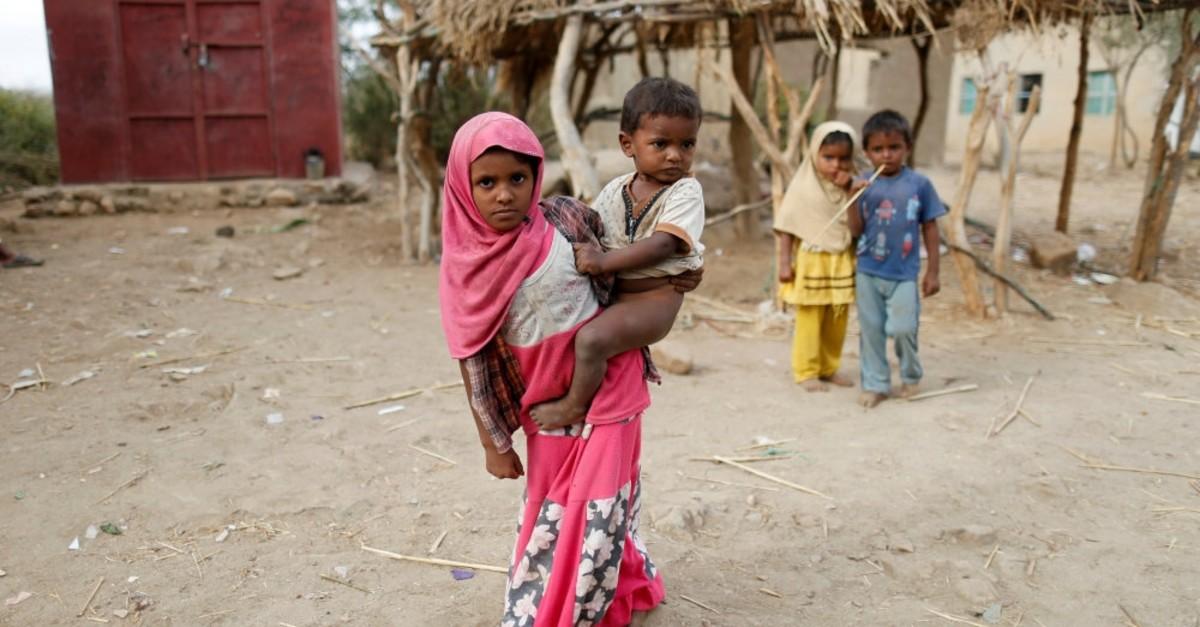 Children in the village of al-Jaraib, in the northwestern province of Hajjah, Feb. 18, 2019.