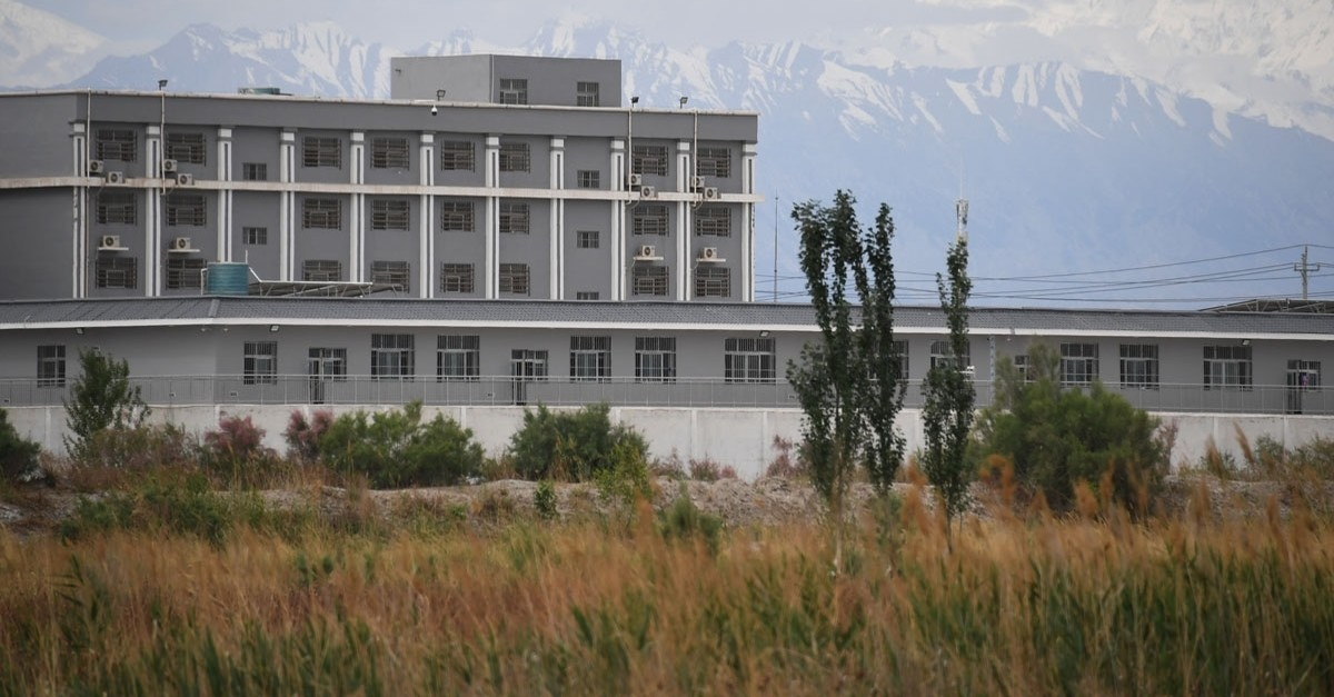 This file photo taken on June 4, 2019 shows a facility believed to be a re-education camp where mostly muslim ethnic minorities are detained, north of Akto in China's northwestern Xinjiang region. (AFP Photo)