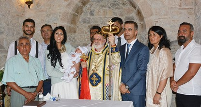 pA Baptism ceremony has taken place at a chapel located near the ancient Temple of Apollo in Turkey's southwestern Aydın province for the first time after 150 years./p