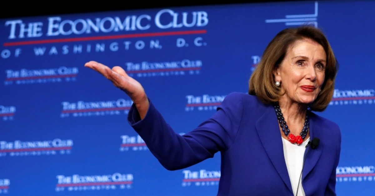 Speaker of the House Nancy Pelosi addresses guests at an event hosted by the Economic Club of Washington in Washington, U.S., March 8, 2019. (Reuters Photo)