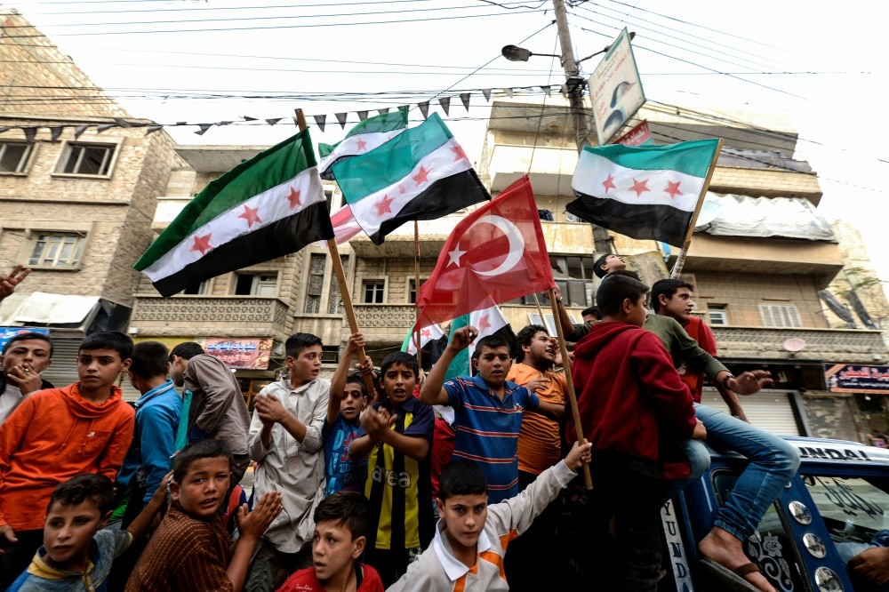 Thousands of people in various opposition-held areas, particularly Idlib, gathered together following the Friday prayer to protest the Bashar Assad regime.