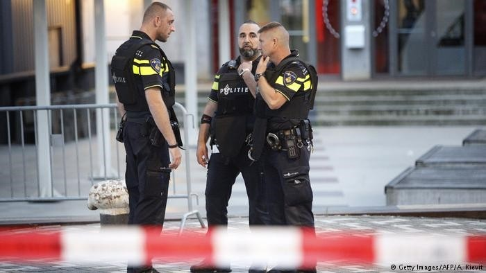 Dutch police officers in Rotterdam, Netherlands. (AFP Photo)