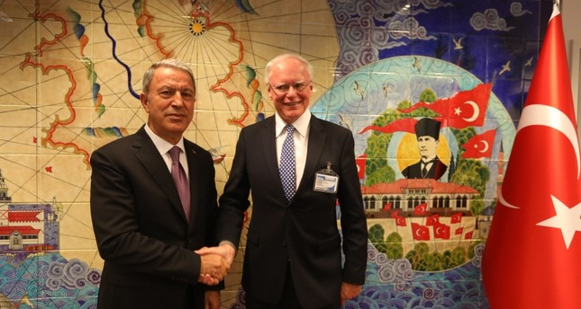 Akar, Jeffrey discuss Syria safe zone on Turkey visit