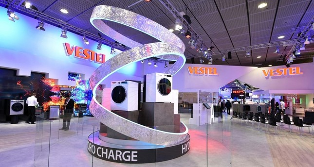 Turkish electronics and home appliances manufacturer Vestel's products exhibited at IFA, the world's leading trade show for consumer electronics and home appliances, in Berlin on Aug. 30.