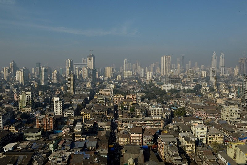 This photo taken on December 2, 2016 shows a general view of the Bhendi Bazaar area of Mumbai that is being redeveloped under the Cluster Development Act 2009 by the Saifee Burhani Upliftment Trust. (AFP Photo)