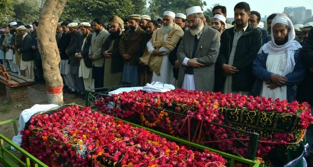 An Islamic funeral in Pakistan.