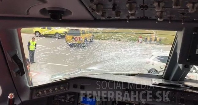 Fenerbahçe plane makes emergency landing in Budapest after bird strike, no injuries