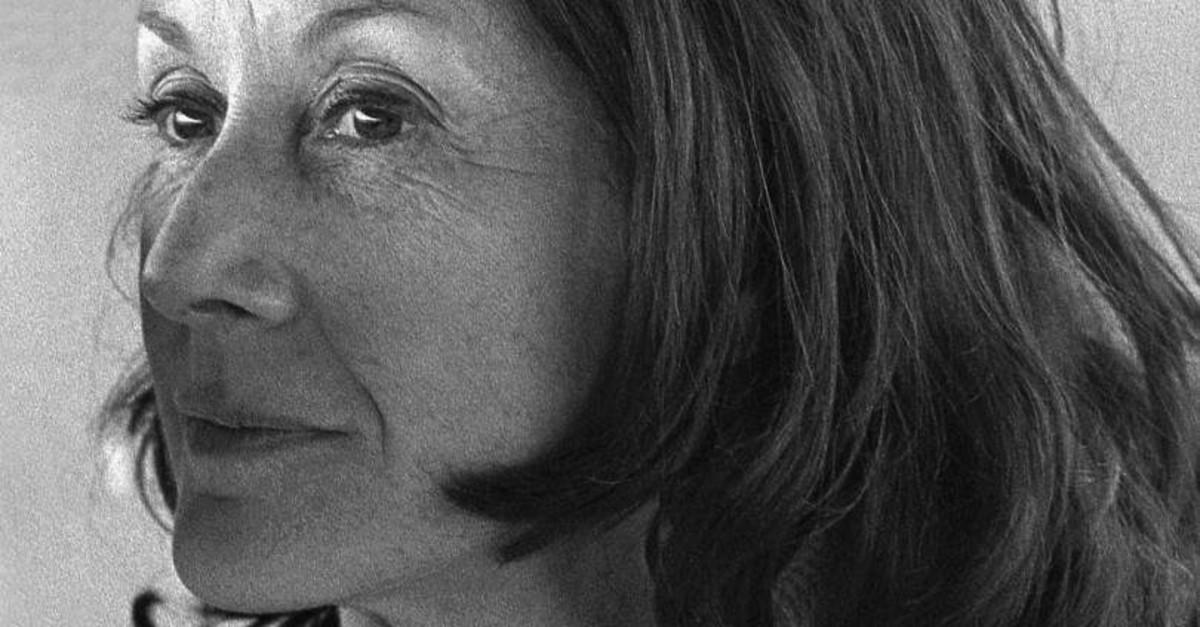 South African writer Nadine Gordimer's portrait by Lu00fctfi u00d6zkok in 1973.