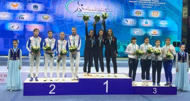 Turkish young women's fencing team takes gold at World Cup