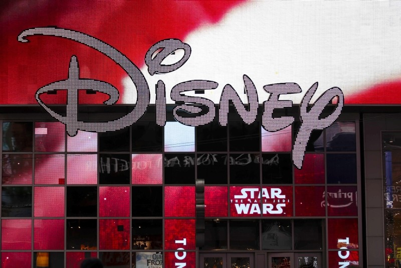 In this file photo taken on December 14, 2017 the Disney logo is displayed outside the Disney Store in Times Square in New York City. (AFP Photo)