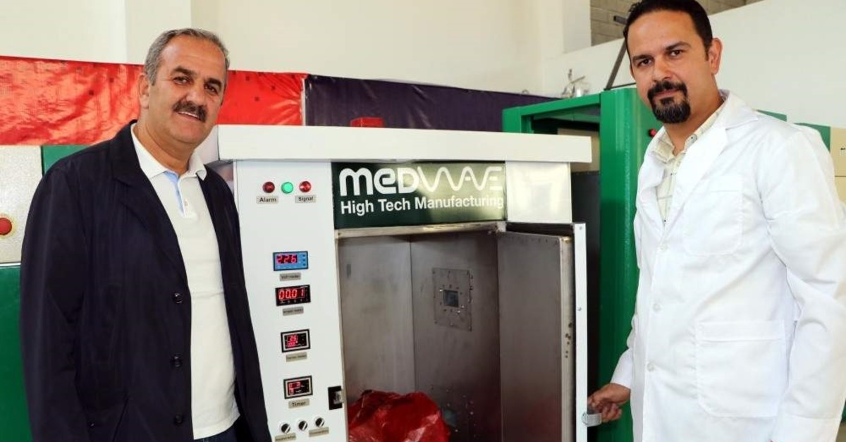 A firm in eastern Turkeyu2019s Van province developed a device that disinfects medical waste on-site with microwave technology u2014 the first such device to be used in Turkish hospitals. (DHA Photo)