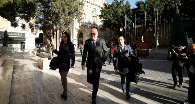 Maltese businessman Yorgen Fenech, who was arrested in connection with an investigation into the murder of journalist Daphne Caruana Galizia, arrives at the Courts of Justice in Valletta, Malta, November 29, 2019. (Reuters