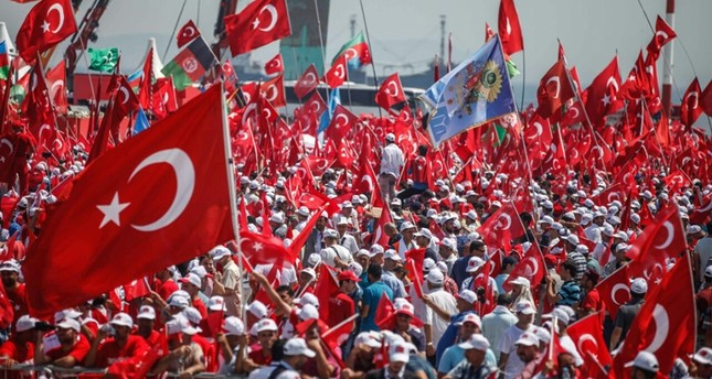 Millions gather in Istanbul for mass democracy rally as Turkey's major parties unite