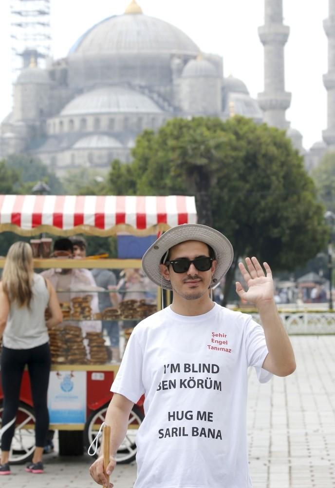 Yunus Emre Polat at Istanbul's Sultanahmet Square.