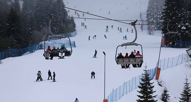 The Ilgaz Mountains offers visitors a chance for fun activities during the long, cold winter months.