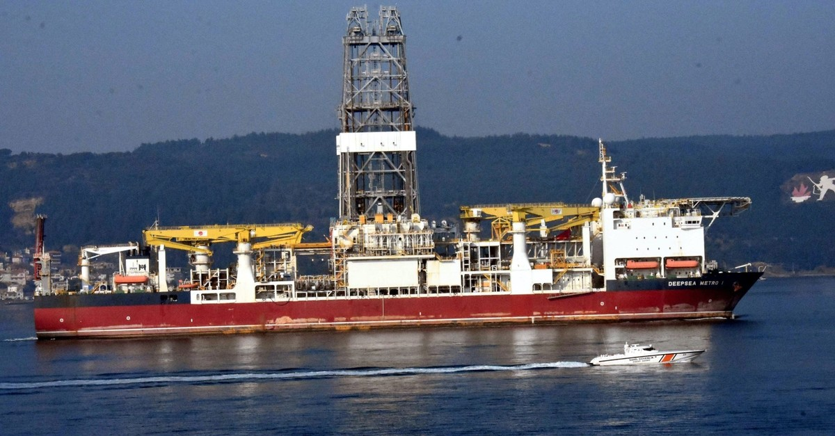 Turkeyu2019s second drilling vessel Yavuz (Deepsea Metro-1) passed through u00c7anakkale Strait on Feb. 22, 2019 and docked at Yalova shipyard to be prepared for well drilling operations in the Mediterranean.