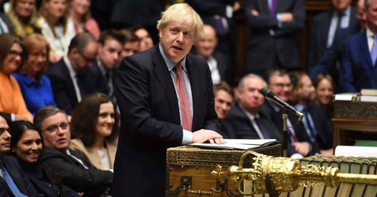 Britain's Prime Minister Boris Johnson speaks at the dispatch box in the House of Commons, London, Dec. 17, 2019. (AFP Photo)