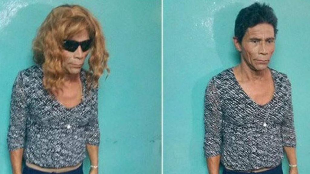 Image of murder convict Francisco Herrera Argueta, who tried to escape from prison disguised as a woman. (Photo courtesy of Honduras Police)