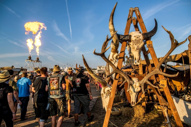 Visitors attend the Wacken Open Air festival, in Wacken, Germany, 02 August 2018. (EPA Photo)