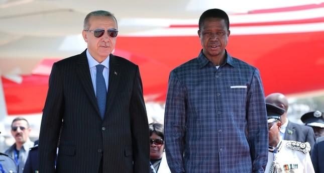 أردوغان يواصل جولته الإفريقية ويصل زامبيا في زيارة رسمية