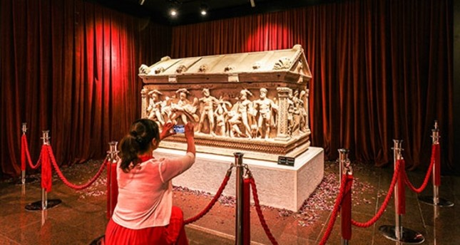 Homecoming of Heracles Sarcophagus boosts visits to Antalya Museum