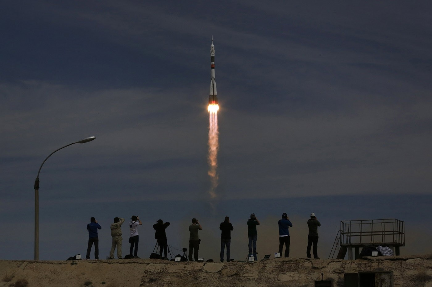 Soyuz capsule carrying American, Russian duo blasts off for space station