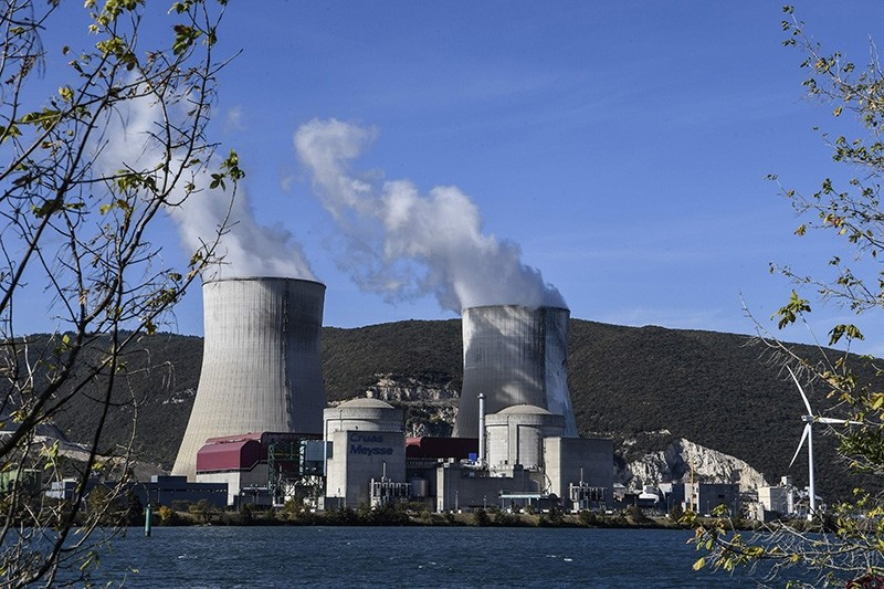 A picture taken on October 10, 2017 shows the Cruas Nuclear Power Plant located in Cruas and Meysse, next to the Rhone River. (AFP Photo)